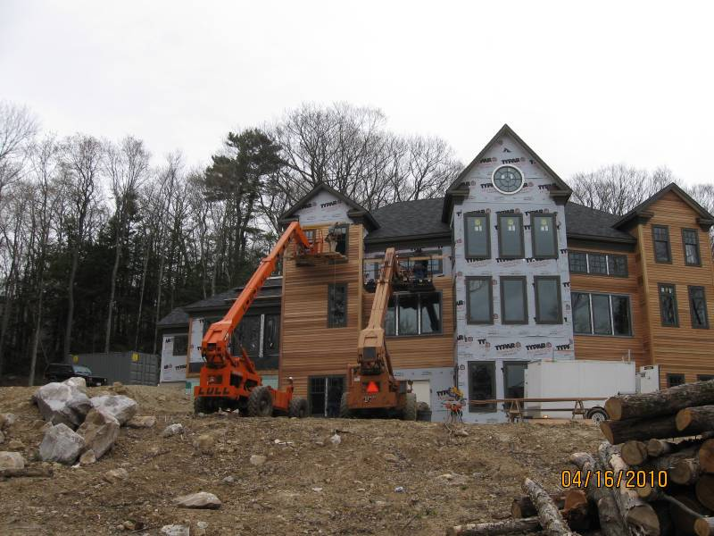 Exterior Wooden Siding Being Installed