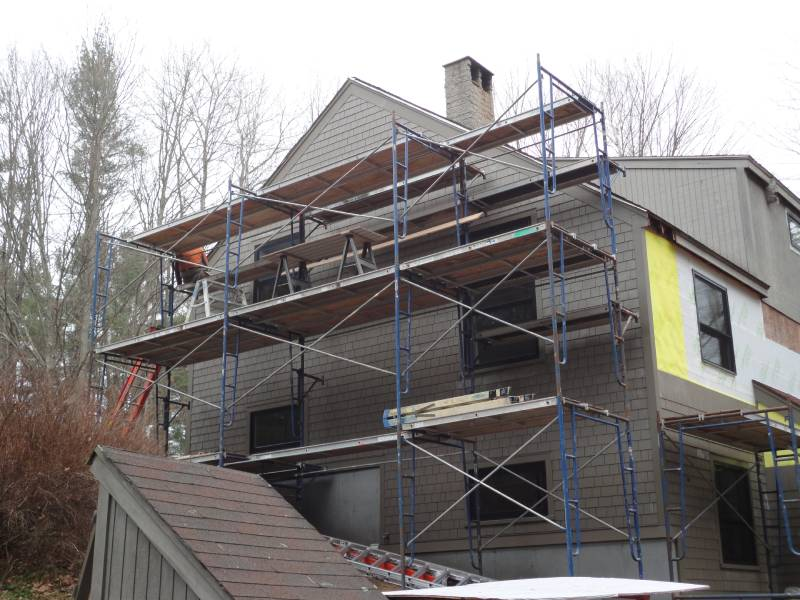 Residential Siding Being Installed on a Home